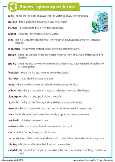 Terminology Worksheets by Glossary Worksheet Free Worksheets Library And