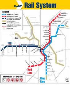 Dart Route Map by Hawkinsrails Net Dallas Light Rail