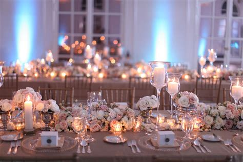 Reception Table Decorations by Blush Tablescape On Blush Weddings Blushes