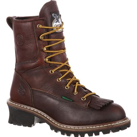 logger boots boot steel toe waterproof logger boots g7313