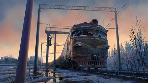 abandoned  train hd wallpaper wallpaper studio