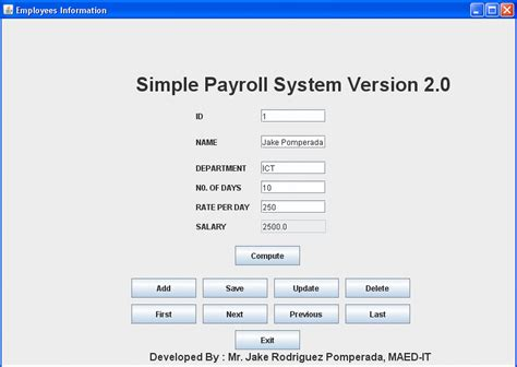 simple php template system simple employee payroll system version 2 0 free source
