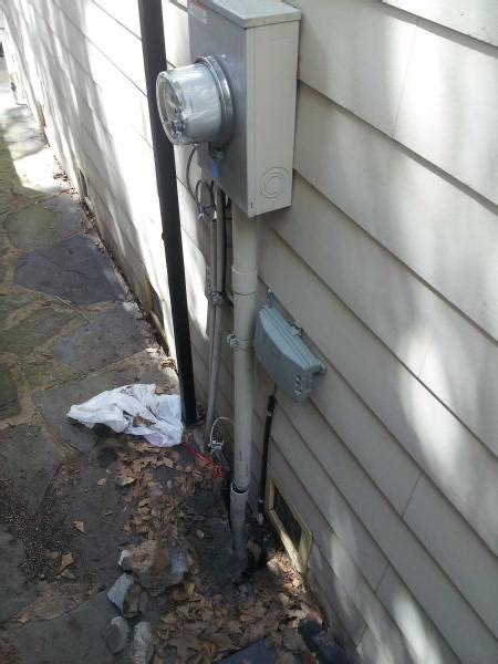 problem with pvc housing wires to outside electrical box
