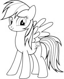 rainbow dash coloring page free coloring pages of rainbow dash