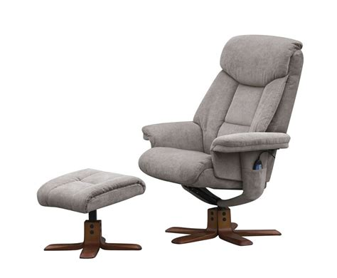 littleham mink velour massage swivel chair  foot stool