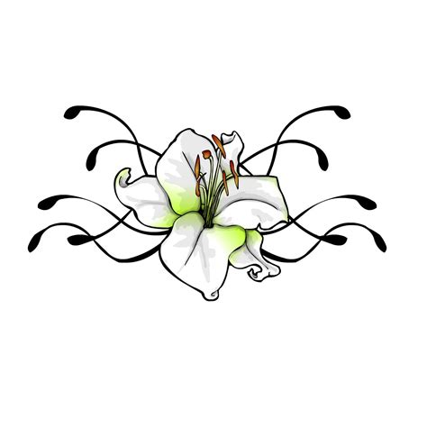 flowers with vines tattoo designs flower vine drawings clipart best
