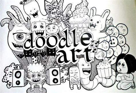 tutorial menggambar keren 45 contoh cara gambar doodle art simple sederhana