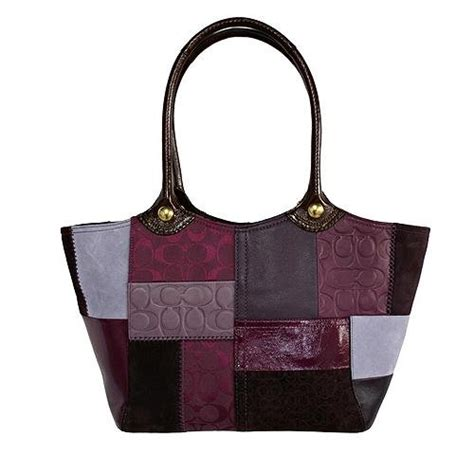 Would You Wear This Coach Bleecker Patchwork Handbag by Coach Bleecker Sig Leather Patchwork Tote Berry Multicolor