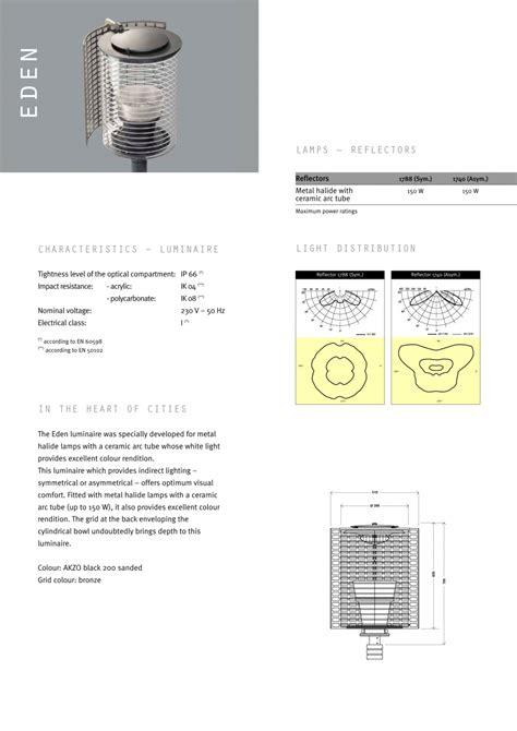 visual comfort catalog catalog brosura corpuri de iluminat urban eden energobit