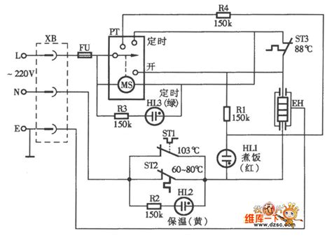 timer automatic electric rice cooker circuit diagram