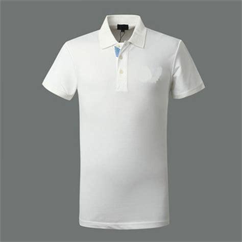 Ospol Kaos Polos Putih Xxxl T Shirt Cotton Plain White Color Polo T Shirt Stand Collar Polo