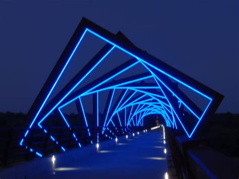 Ia Lighting by Notice Every Tree High Trestle Trail Bridge Madrid