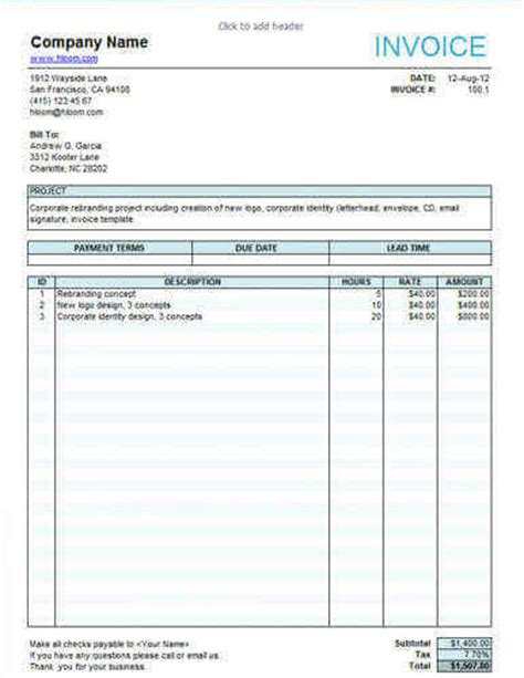 work invoice template 10 free freelance invoice templates word excel