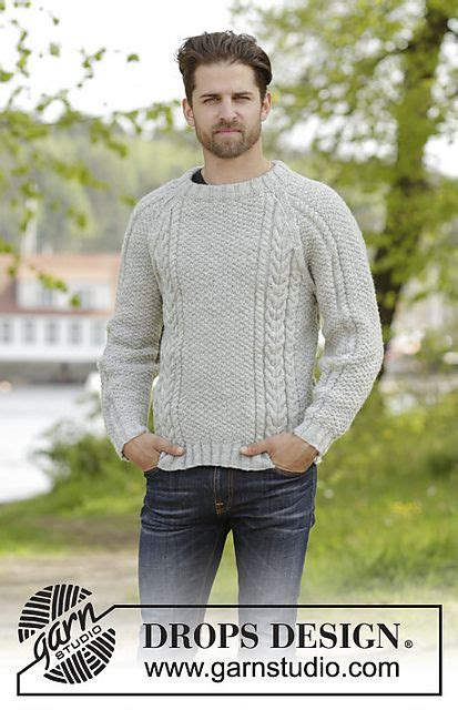 knitting pattern raglan jumper knitted drops men s jumper with cables raglan and folding