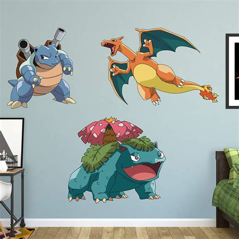 Life Size Athlete Wall Stickers pokemon final evolution collection wall decal shop