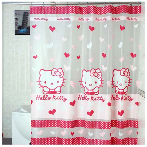 hello kitty fabric shower curtain hello kitty shower curtain transparent bathroom curtain