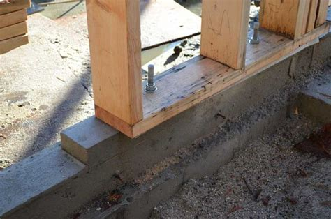 anchoring seismic roof curbs anchor bolts timber sill plate search sheds