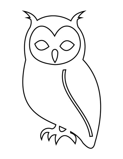 printable owl stencils owl stencil h m coloring pages