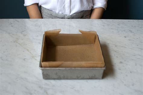 How To Make Parchment Paper - how to perfectly line a pan with parchment paper