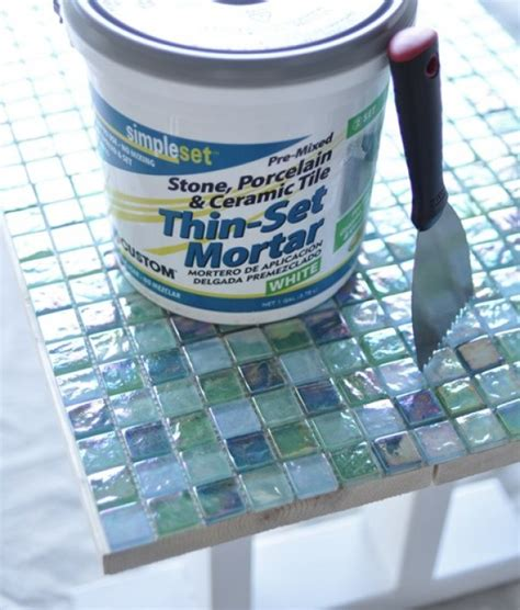 how to make a glass mosaic table top 18 stunning diy mosaic craft projects for easy home decor