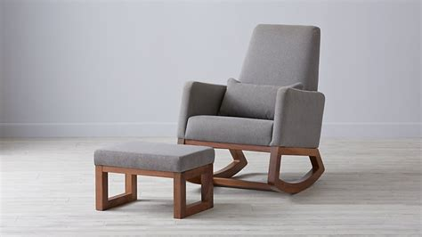 rocking chair and ottoman joya rocker grey rocking chair the land of nod
