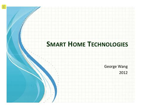 smart house technologies smart home tech short