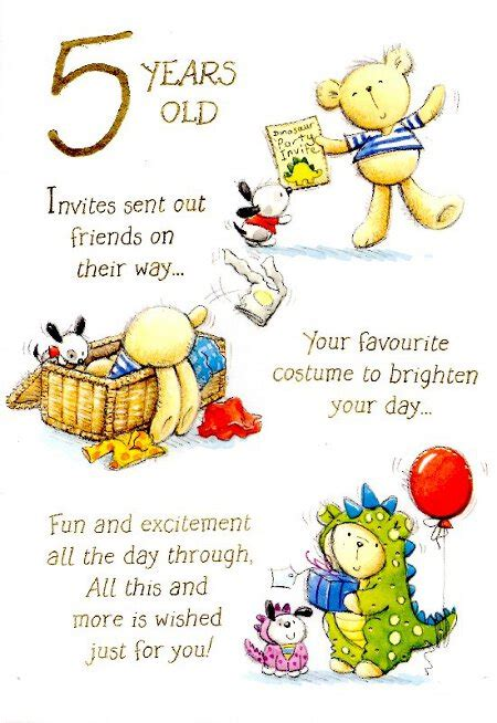 Birthday Quotes For 5 Year 5th Birthday Quotes Quotesgram