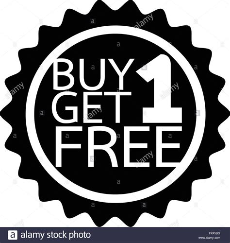 buy one buy one get one free icon symbol illustration design stock
