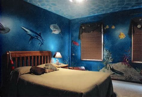bedroom under water shark mermaid room underwater wall murals bedroom design