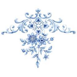 Royal Blue Vase Flower Stencils And Floral Designs Nature Wall Stencils