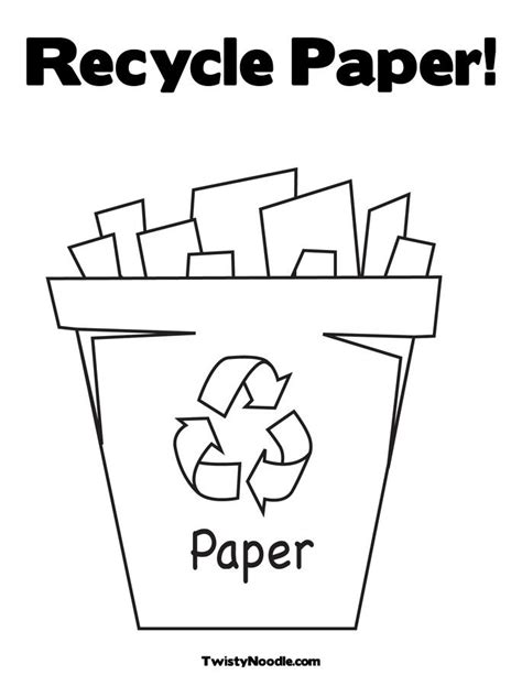 recycling coloring page april lesson plans pinterest
