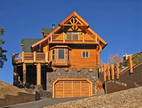 Home Decorated Christmas Trees by 52 Luxury Log Homes Great Pictures