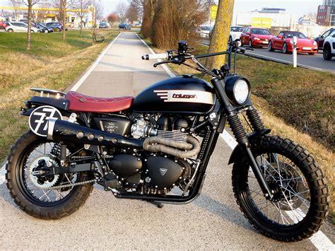 Triumph De Motorrad by Umgebautes Motorrad Triumph Scrambler Von Sbf Triumph