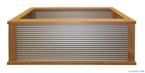 Corrugated Iron Planters by Christchurch Canterbury Trellis Quality Trellis