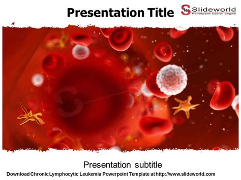 blood cells medical powerpoint template 0610 chronic lymphocytic leukemia powerpoint template