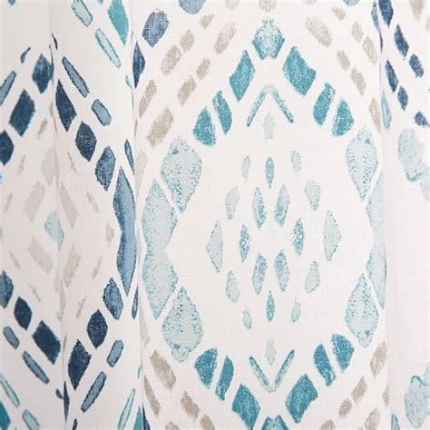 west elm medallion shower curtain office drapery cotton canvas mosaic medallion curtain