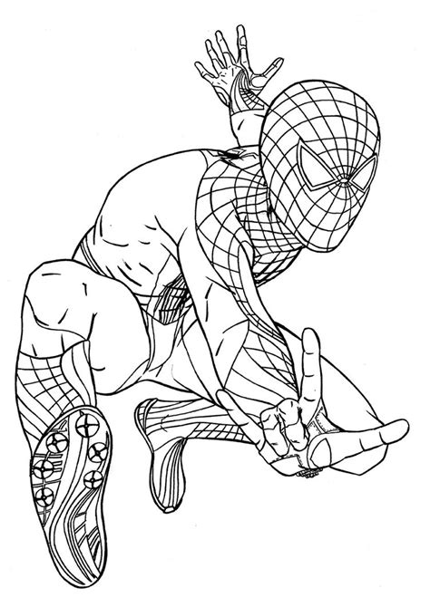 free spiderman coloring pages