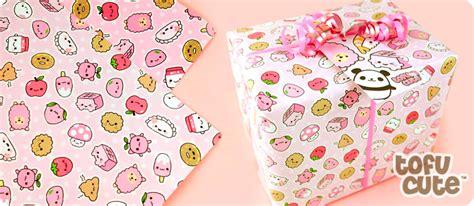Gift Wrapping Paper Sheets - buy tofu cute gift wrap set kawaii happy pink things at tofu cute