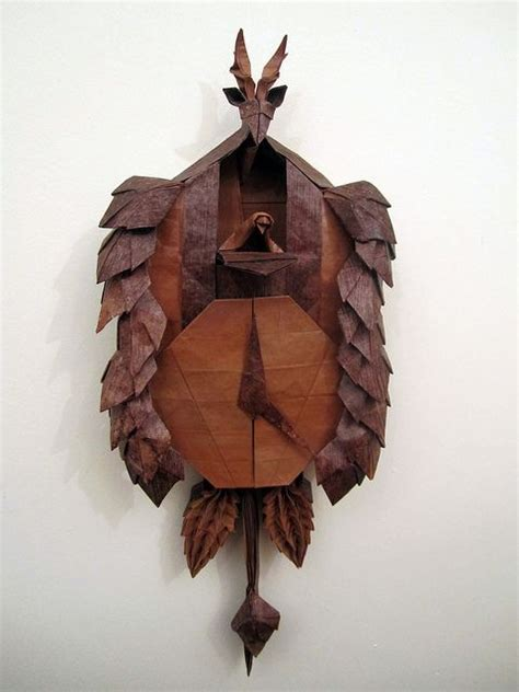 Origami Black Forest Cuckoo Clock - pin by sandi terry on origami
