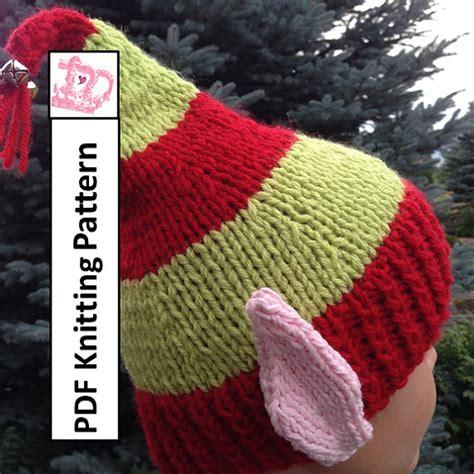 knitting pattern elf hat pdf knitting pattern hat knitting pattern elf ears jingle