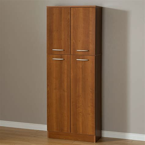 Storage Pantry With Doors South Shore Axess 4 Door Storage Pantry Cherry Boscov S
