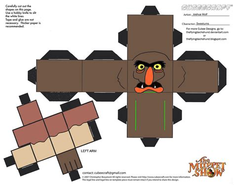 Papercraft Expo - muppets 12 sweetums cubee by theflyingdachshund on deviantart