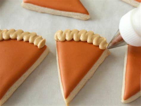Sugar Bell mini pumpkin pie slice cookies