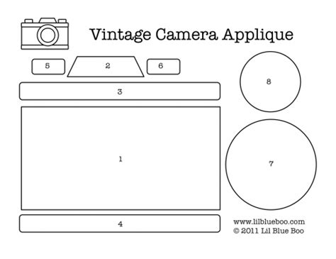 vintage camera applique free download