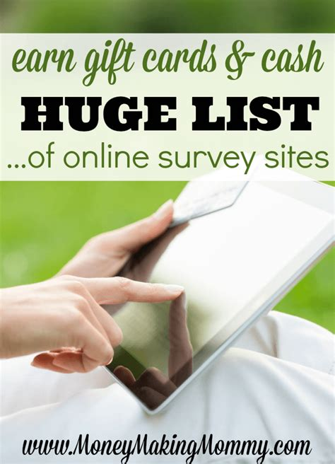 Earn Gift Cards By Taking Surveys - ultimate online surveys for money list find out who pays