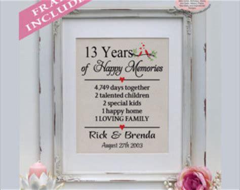 13 year wedding anniversary gifts 13th anniversary etsy