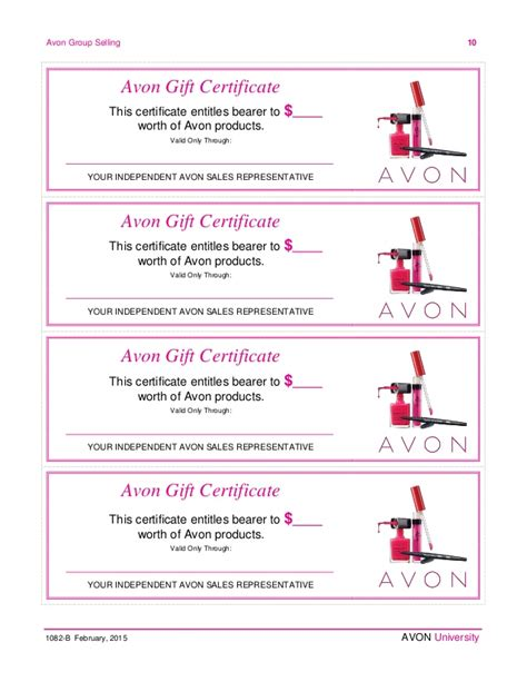 avon gift certificates templates free avon templates pictures to pin on pinsdaddy