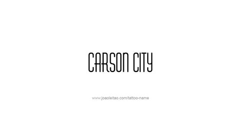 capital city tattoo carson city usa capital city name designs tattoos