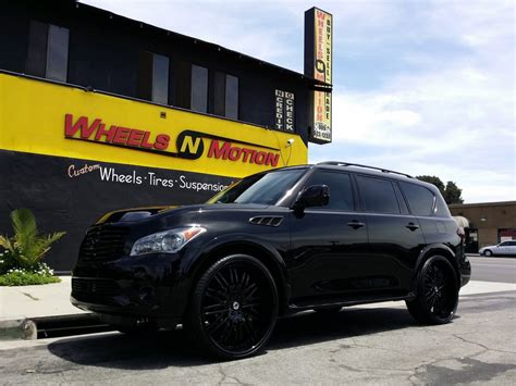 all black infiniti 2014 infinity qx80 on 28 quot asanti forged wheels style af