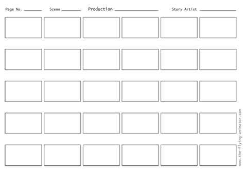 Blank Storyboard Template by Storyboard Template